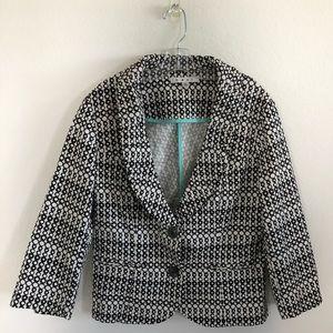 Cabi Black & White Jacket Size 4